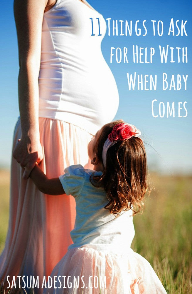 11 Things to Ask for Help with When Baby Comes