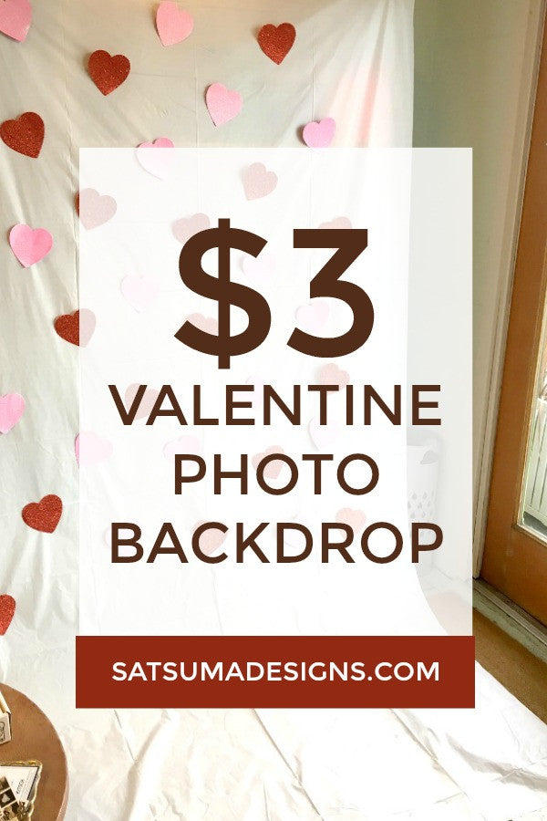 Last minute valentine's day photo backdrop