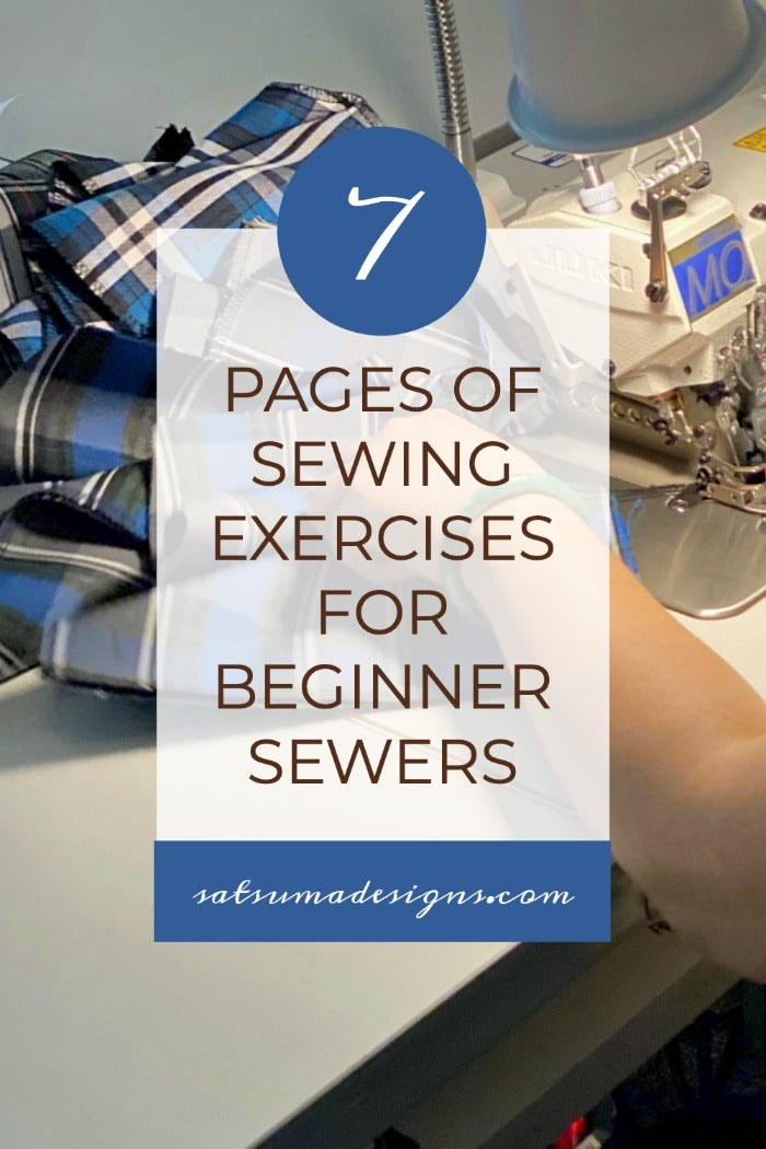 7 Pages of Easy Sewing Exercises For Beginner Sewers