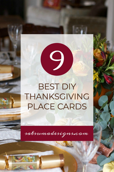 9 Best DIY Thanksgiving Place Cards