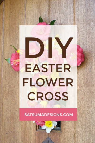 Easter Flower Cross Wreath