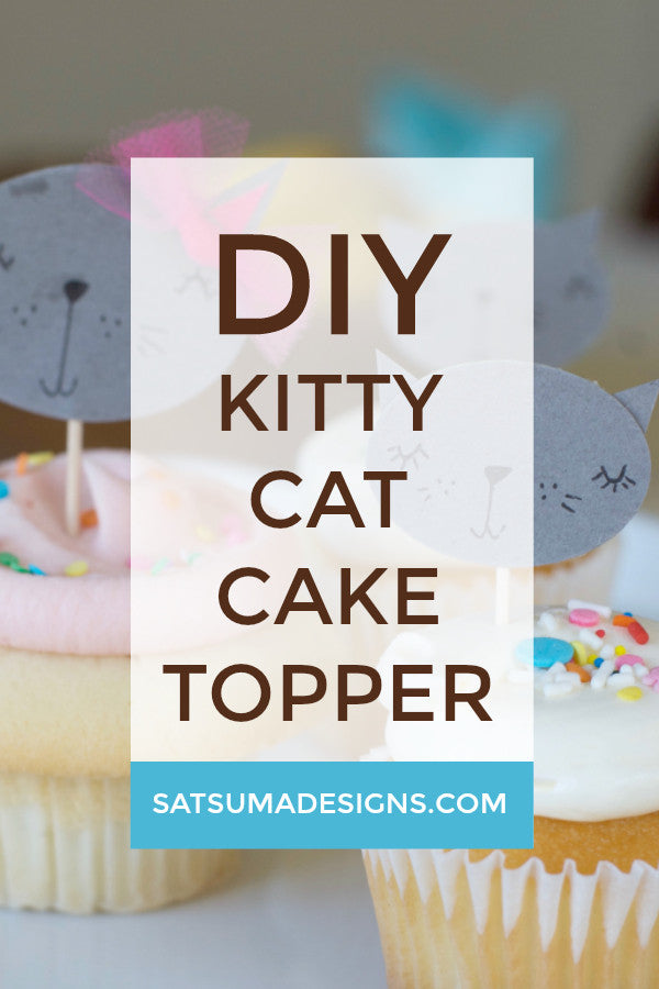 DIY Kitty Cupcake Toppers for Less