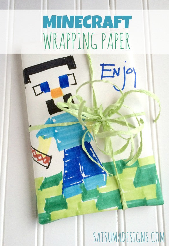 DIY Minecraft Wrapping Paper