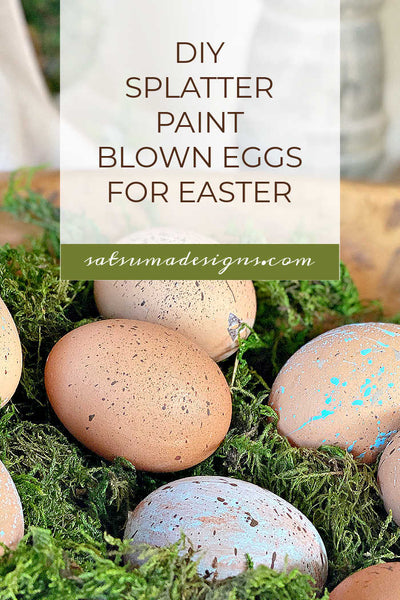 DIY Splatter Painted Blown Eggs for Easter