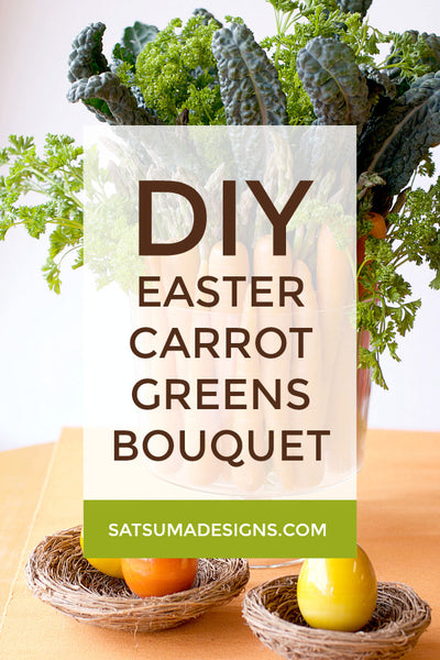 Easter Carrot Bouquet and Centerpiece