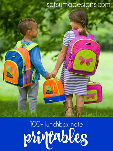 Free Lunch Box Note Printables For Preschool And Grade