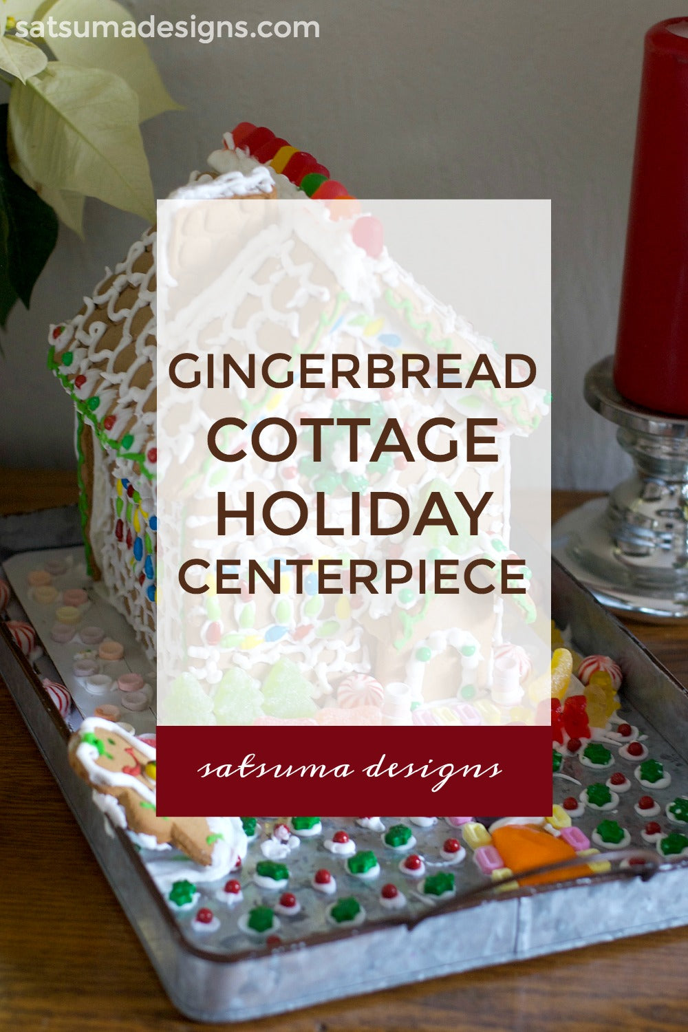 Gingerbread Cottage Holiday Centerpiece
