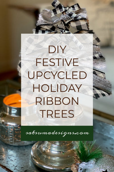 How To Make Festive Holiday Ribbon Trees From Upcycled Materials