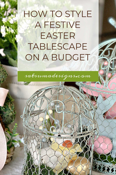 How To Easily Style A Festive Easter Tablescape On A Budget