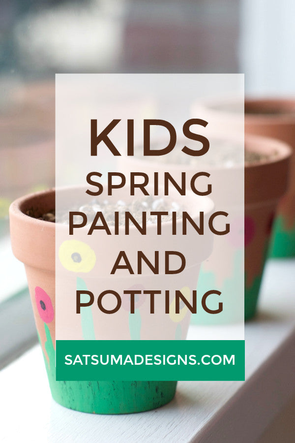 Spring Painting and Potting Craft for Kids