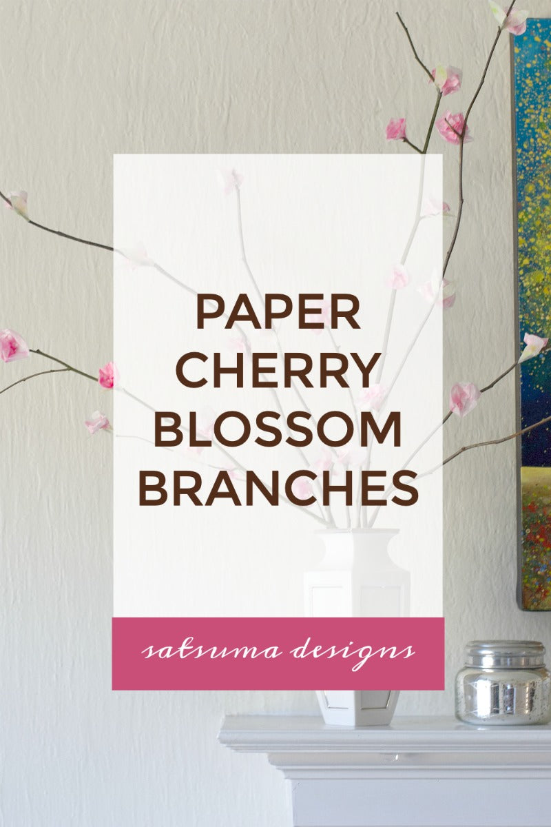 Paper Cherry Blossom Branches
