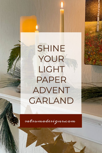 Shine Your Light Paper Advent Calendar Garland