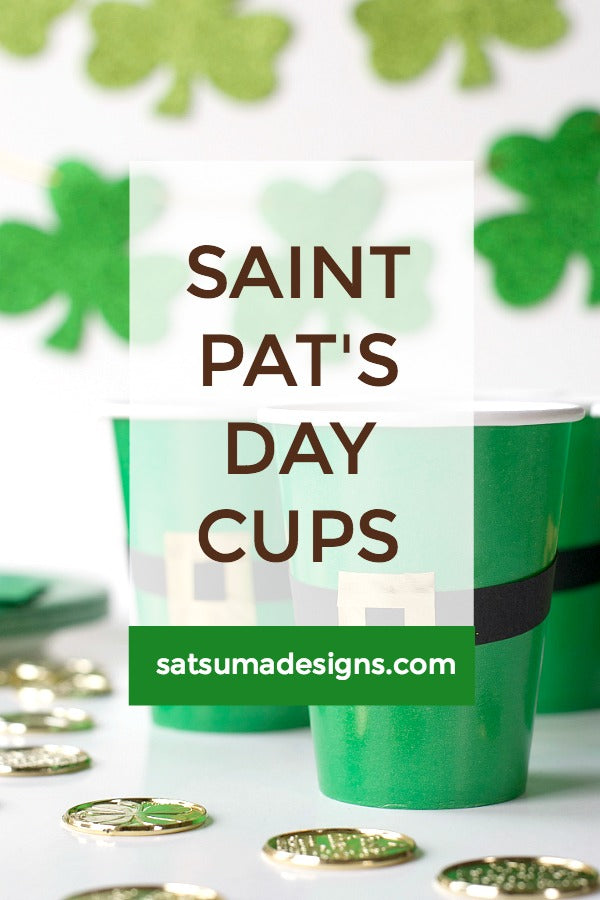 St. Patrick's Day Party Cups