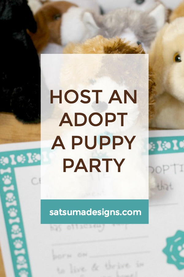 Host An Adopt A Puppy Party
