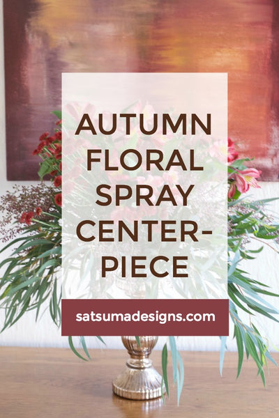 Autumn Floral Spray Centerpiece