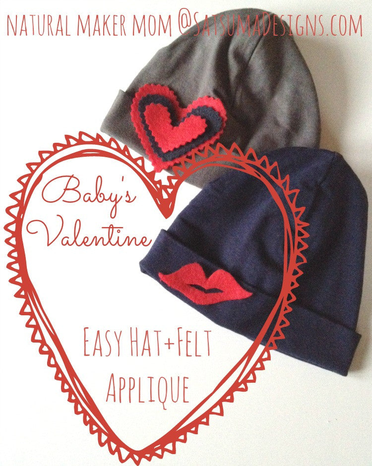 Valetine's Day No Sew Baby Hat