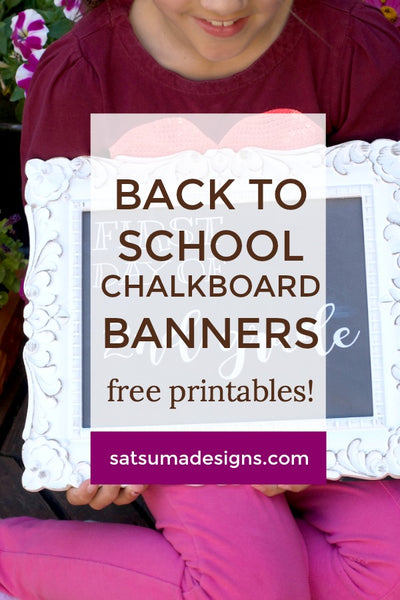 Back to School Chalkboard Banner Printables | Free Printable