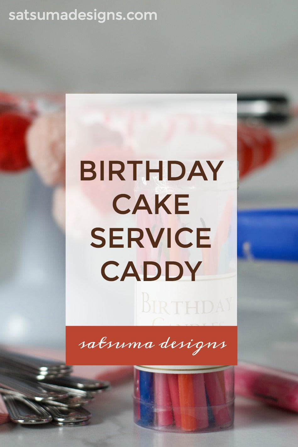 Eco-Chic Party | Birthday Cake Service Caddy