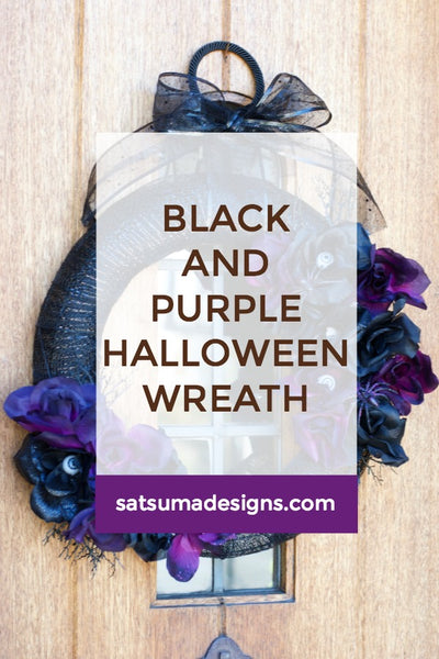 Black and Purple Halloween Wreath
