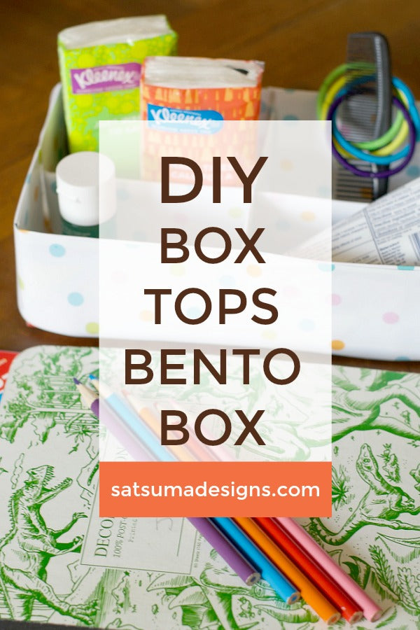 DIY Box Tops Bento Box for Back to School