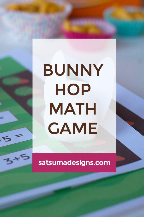Bunny Hop Math Facts Game