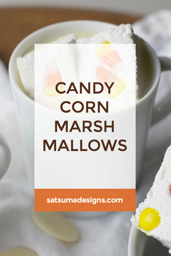 Candy Corn Marshmallows | White Hot Chocolate Recipe