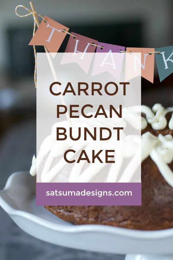 Carrot Pecan Bundt Cake with Cream Cheese Frosting