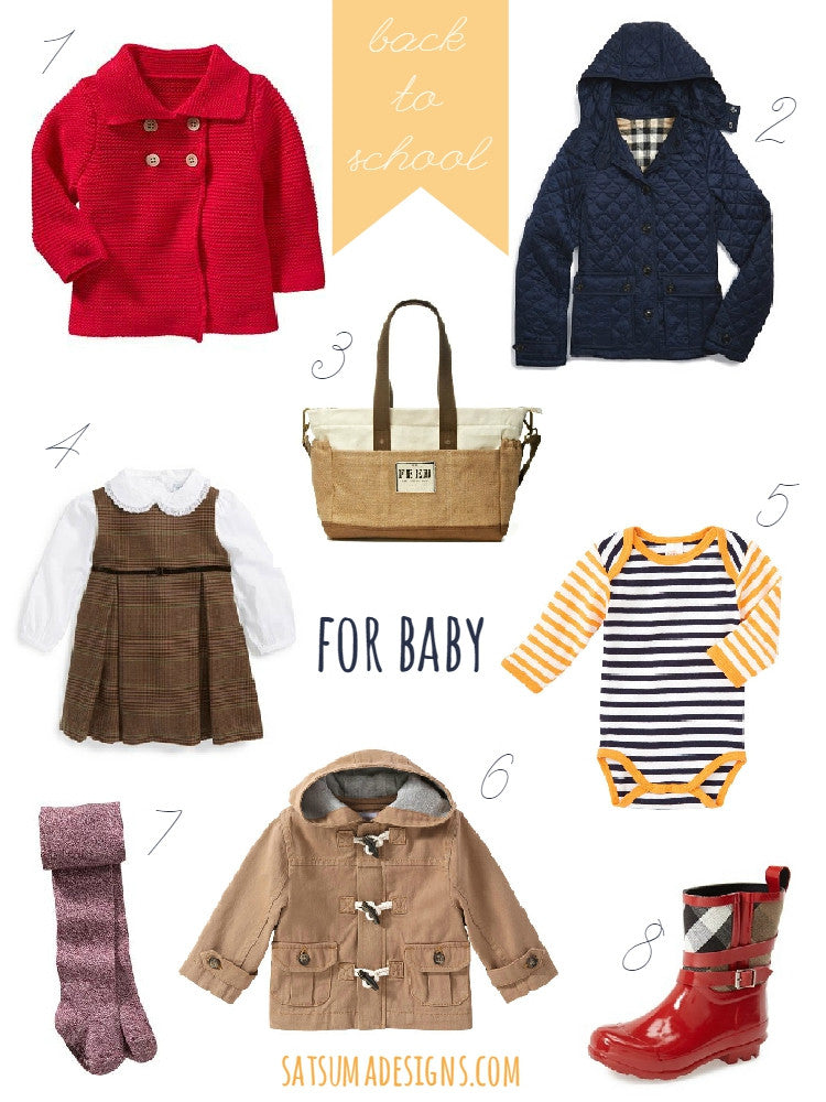 Current Craving: Back to School for Baby