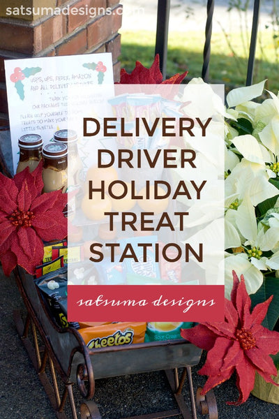 Delivery Driver Holiday Treat Station