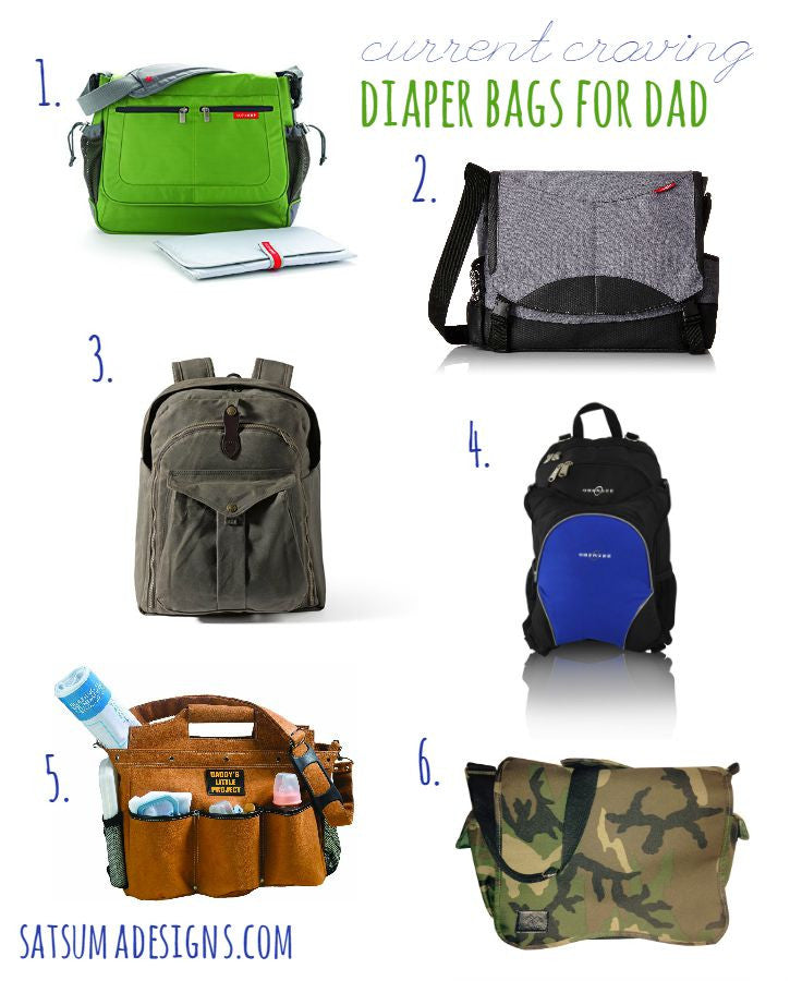 Current Craving: Diaper Bags for Dads