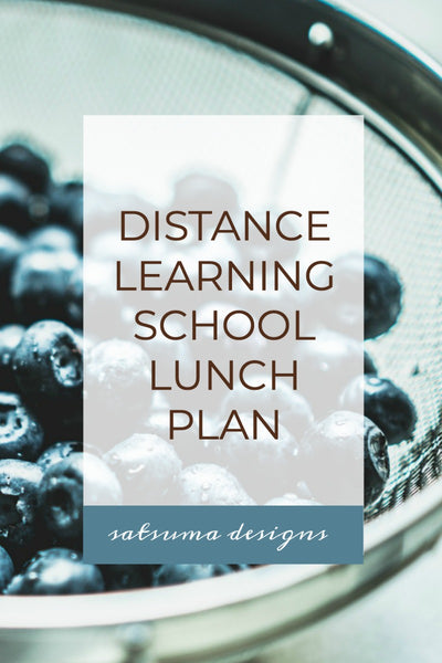 Distanced Learning School Lunch Plan