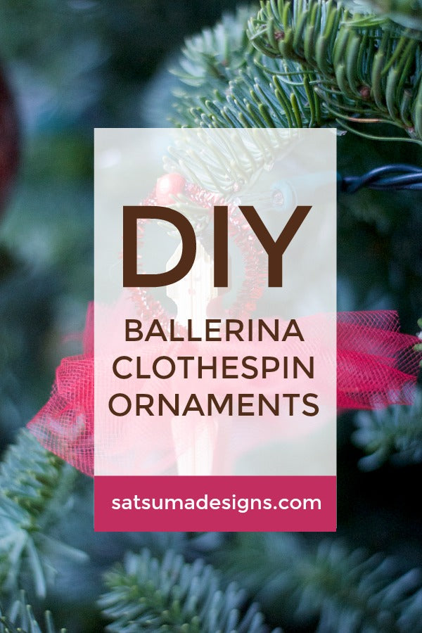 Ballerina Clothespin Ornaments