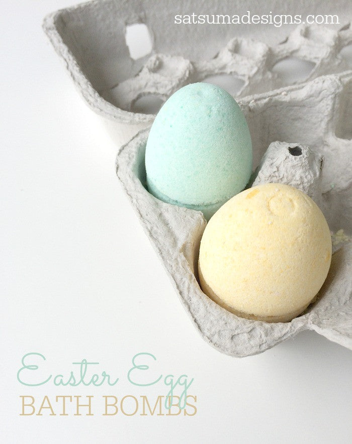 Make Easter Egg Bath Bombs