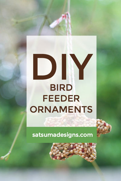 DIY Bird Feeder Ornaments | Free Printables