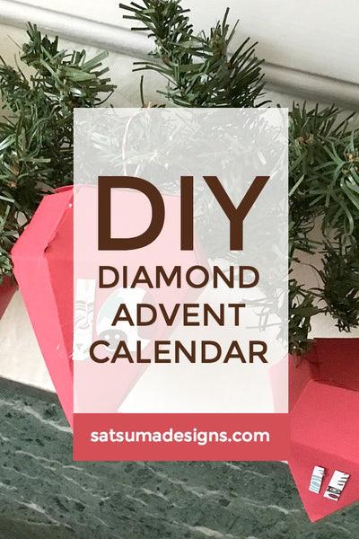 DIY diamond advent calendar | SatsumaDesigns.com #holiday #advent #Christmas