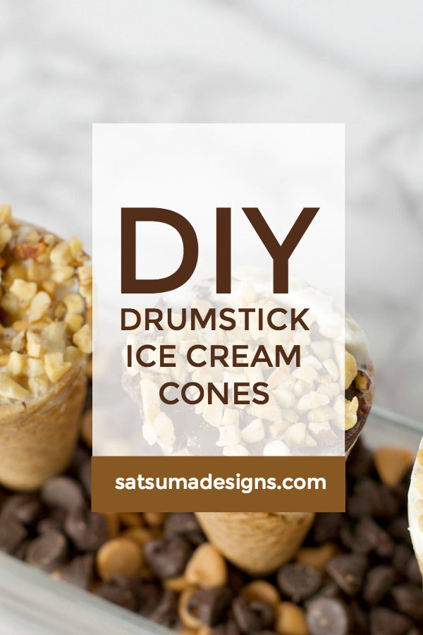 DIY Drumstick Ice Cream Cones