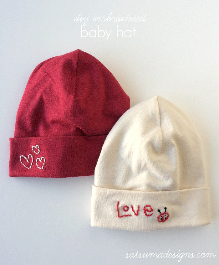 DIY Embroidered Baby Hat