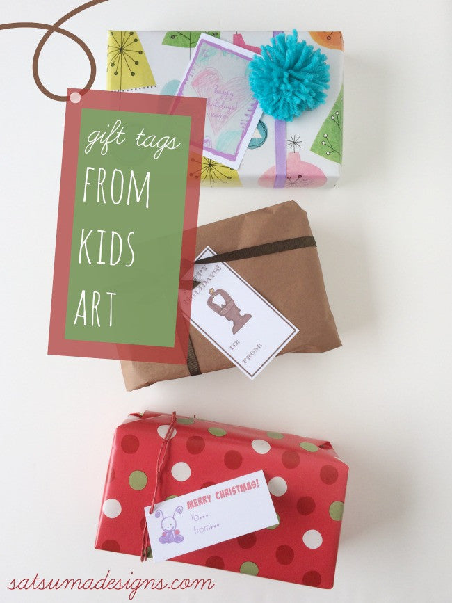 DIY Gift Tags from Kids' Art