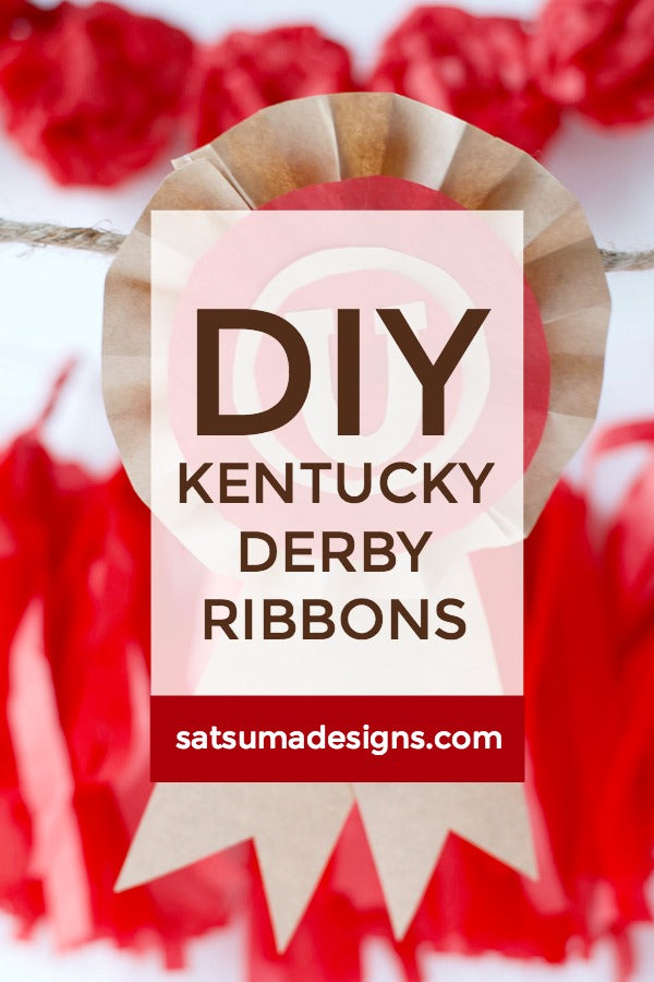 DIY Kentucky Derby Ribbons