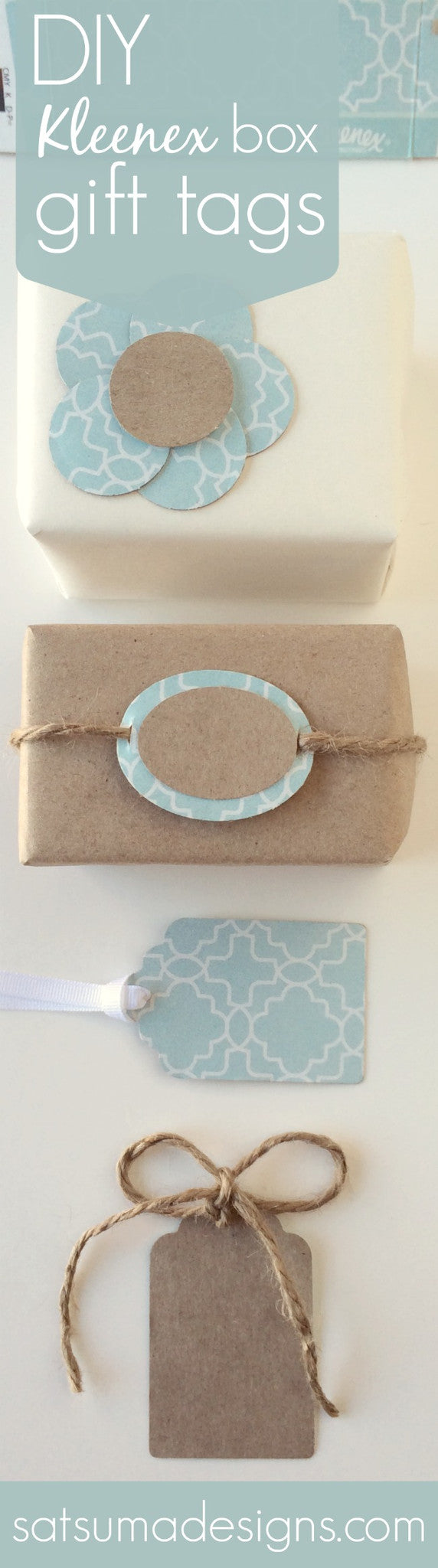 DIY Kleenex Box Gift Tags