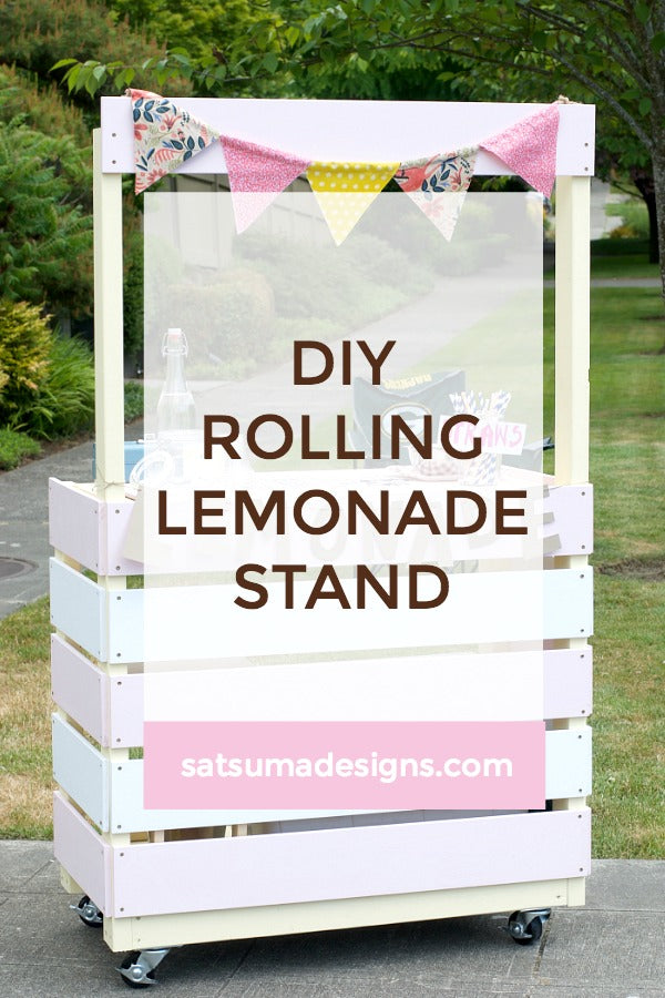 DIY Rolling Lemonade Stand