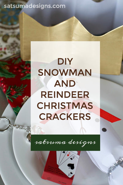 DIY Snowman and Reindeer Christmas Crackers with Free Printables