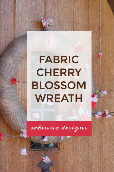 Fabric Cherry Blossom Wreath
