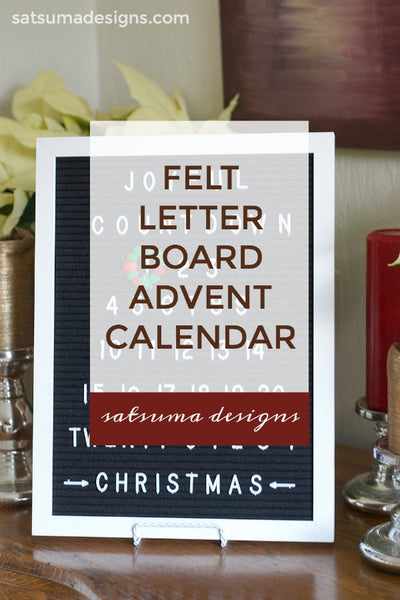 Felt Letter Board Advent Calendar