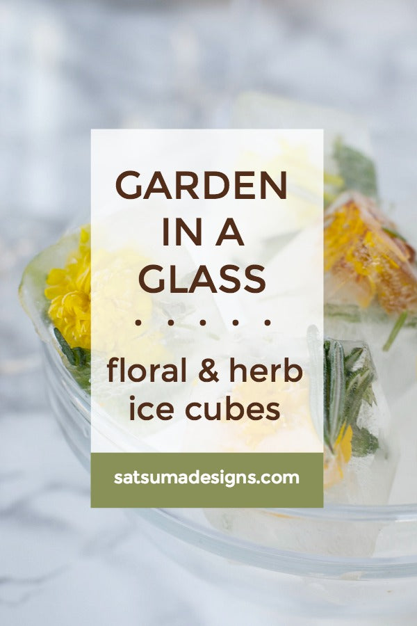 Garden In A Glass | Flowering Rosemary Mint Ice Cubes