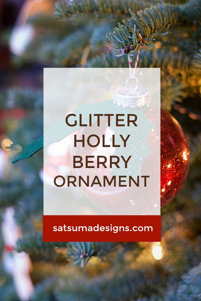 Glitter Holly Berry Ornament