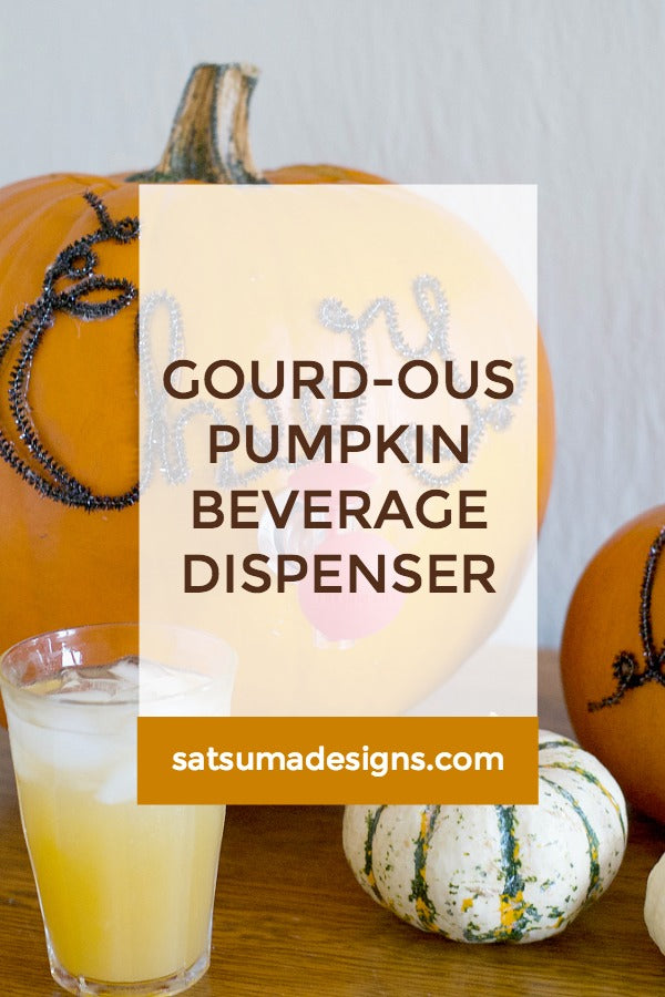 Gourd-ous Pumpkin Beverage Dispenser