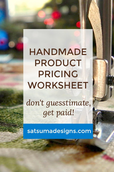 Product Pricing Worksheet for Handmade and Contract Sewn Items