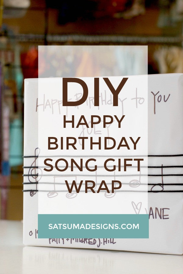 Happy Birthday Song Gift Wrap