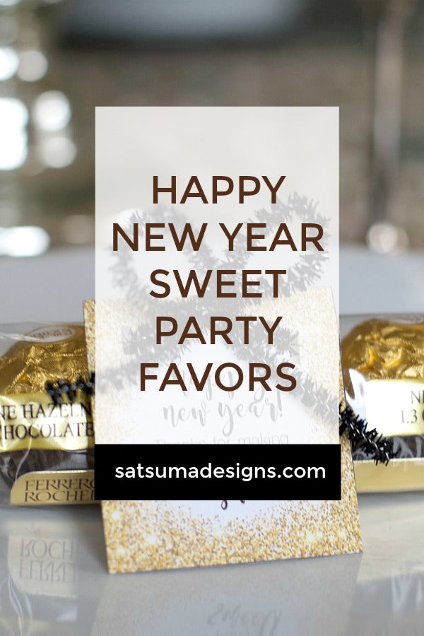 Happy New Year Sweet Party Favors